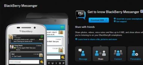Descargar aplicación oficial BBM para Android
