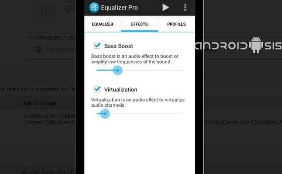 Ecualizador a 10 bandas gratis para tu Android en formato apk