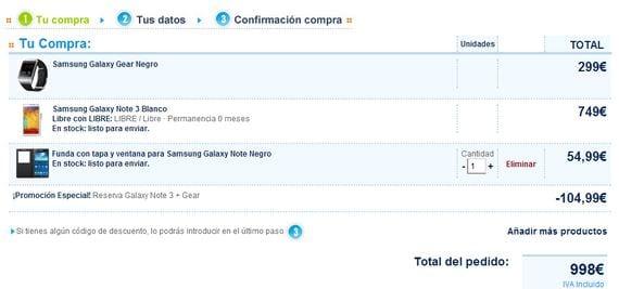 Samsung Galaxy Note 3 y Galaxy Gear ya se pueden reservar en Phone House