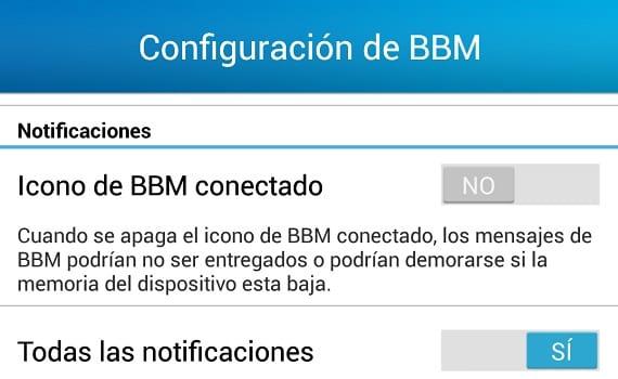 Sin la notificación persistente, BBM no es totalmente funcional