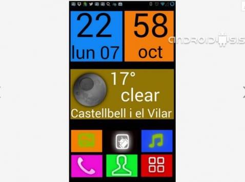 Aplicaciones increíbles para Android: Hoy Big Launcher UCCW Skin