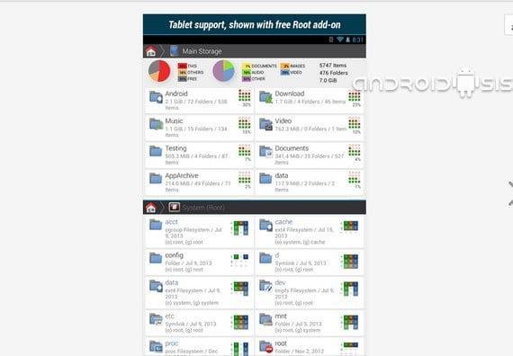 Aplicaciones increíbles para Android: Hoy el mejor explorador de archivos