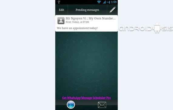 Aplicaciones increíbles para Android: Hoy Whatsapp Scheduler