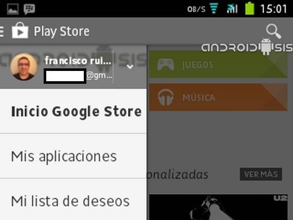 Descargar APK última versión de Play Store con la nuevo menú lateral