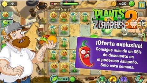 Plants VS Zombies 2 ya disponible para descarga
