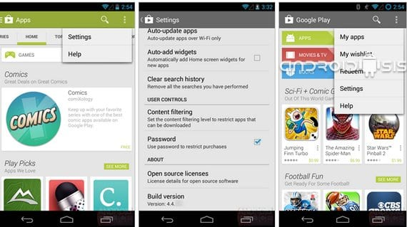 Play Store se actualizará con Android 4.4 Kit Kat