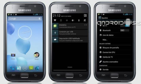 Samsung Galaxy S, Android 4.3.1 con Slim Bean