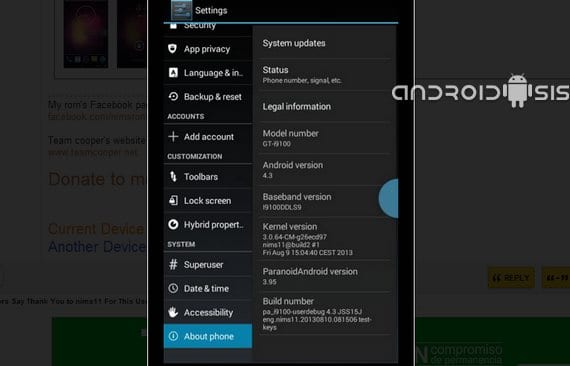 Samsung Galaxy S2, Rom ParanoidAndroid 3.99 RC2