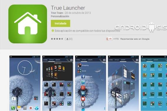 True Launcher, un Launcher sencillo y muy muy funcional