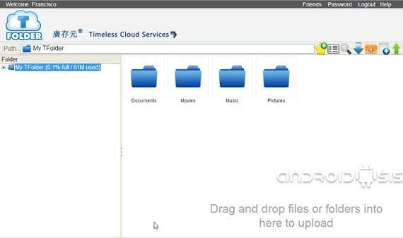 1TB de almacenamiento en la nube gratis con TFolder
