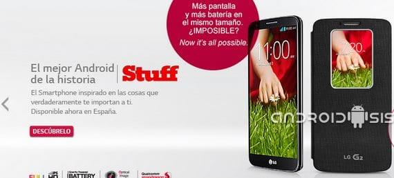 Android 4.4 Kit Kat para el LG G2 antes de que acabe el año