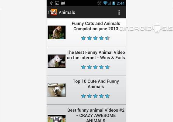 Aplicaciones divertidas para Android, LOL Funny Clips