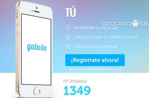 Gatwin una aplicación para Android que te paga por usar el móvil