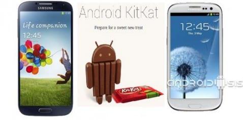 Posibles fechas de actualización oficial Samsung a Android 4.4 Kit Kat