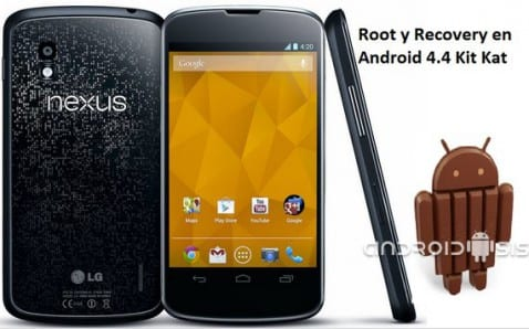 Root y Recovery en Nexus 4 Android 4.4 Kit Kat