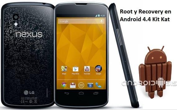 Root y Recovery en Nexus 4 Android 4.4 Kit Kat