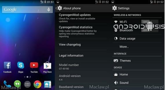 Samsung Galaxy S3 mini, primera Rom Android 4.4 Kit Kat en estado Alpha