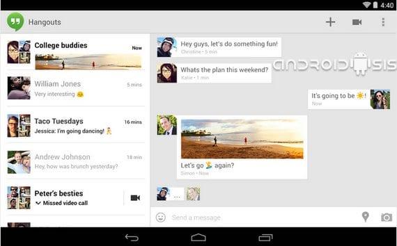 Última actualización de Hangouts para descarga directa del APK