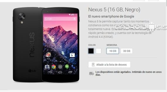 Vuelve a haber Stock del Nexus 5