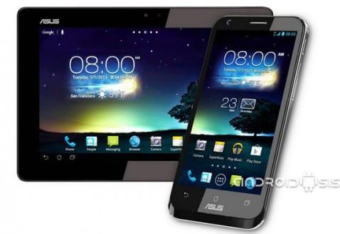 Widget del tiempo y reloj del Asus Padfone 2 para todos los Android