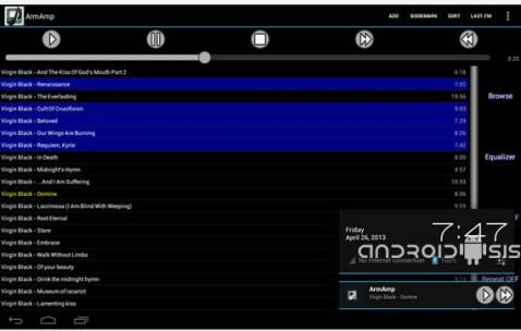 Aplicaciones increíbles para Android, ArmAmp Music Player