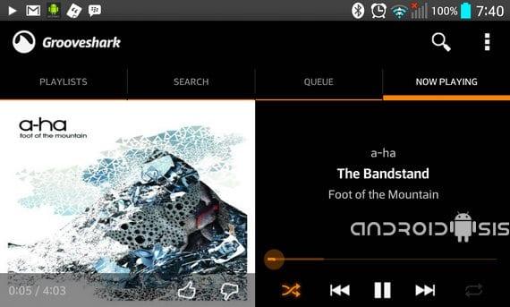 Aplicaciones increíbles para Android, Groveshark
