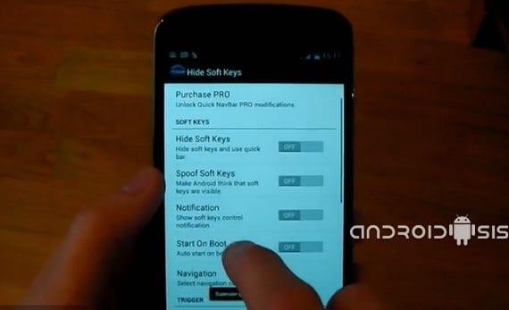 Cómo ocultar las barras de navegación o botones virtuales de tu Android