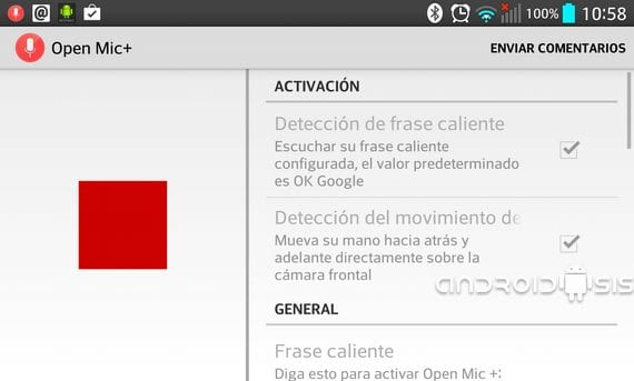 Now Google Google wakes up OK even in Spanish