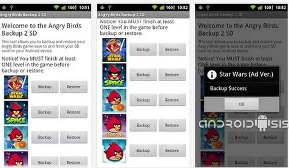 """Išsaugokite """"Angry Birds"""" žaidimus savo SD kortelėje"""
