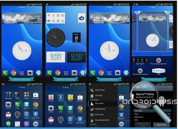 Launcher Xperia Honami 1 disponible para cualquier Android