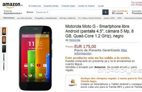 Motorola G en pre-venta en España a través de Amazon