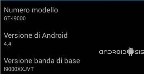 Samsung Galaxy S, Rom Android 4.4 Kit Kat krt16s