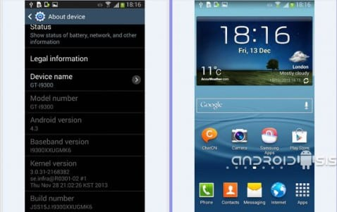 Samsung Galaxy S3, Android 4.3 Open Europe firmware disponible para descarga