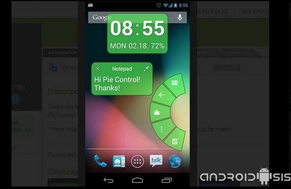 Aplicaciones increíbles para Android, hoy PIE Control