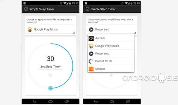 Aplicaciones increíbles para Android, Hoy Super Simple Sleep Timer
