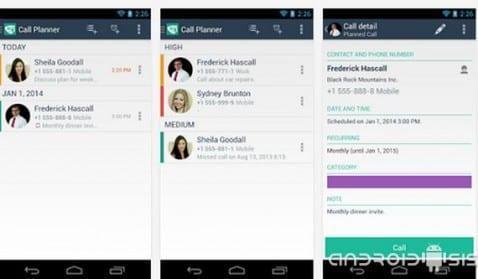 Call Planner un planificador de llamadas para Android