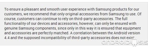 Comunicado Oficial: Samsung desmiente el bloqueo de accesorios de terceros