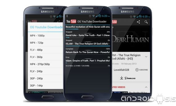 descarga los contenidos de you tube directamente desde tu smartphone(teléfono inteligente) o tablet 2 Descarga los contenidos de You Tube directamente desde tu Smartphone o Tablet
