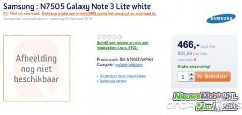 Fecha de venta y precio del Samsung Galaxy Note 3 Neo