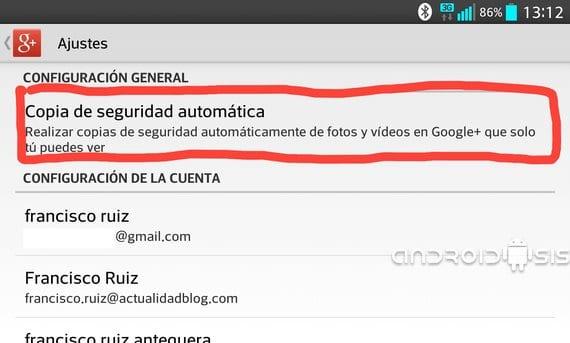 Google+: Cómo activar/desactivar la subida y sincronización de tus fotos