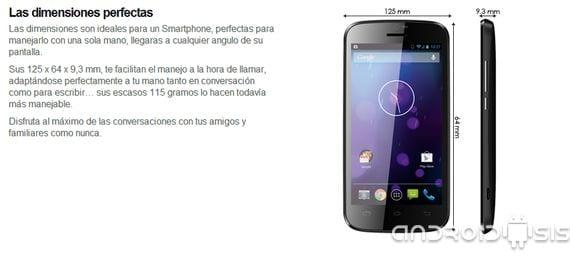Review MAX 4 3G un terminal Android Español de doble núcleo y Android 4.2.2 por 89 Euros