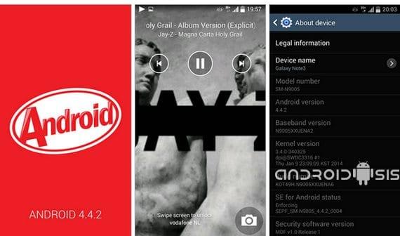 Samsung Galaxy Note 3, actualización oficial a Android Kit Kat 4.4.2