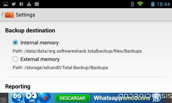 Total backup te ayuda a tener una copia de seguridad de todos tus contactos