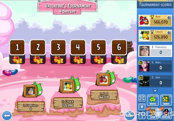 angry birds new friends valentines special tournaments 1 Angry Birds Friends, new special tournaments Valentine