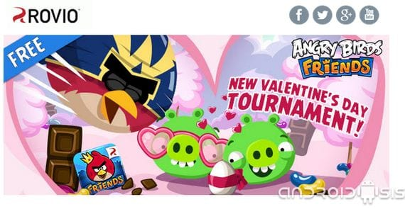 Angry Birds Friends, new special tournaments Valentine