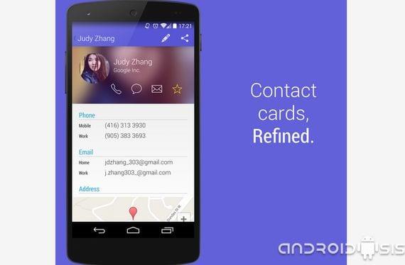 Aplicaciones increíbles para Android, hoy Contakts