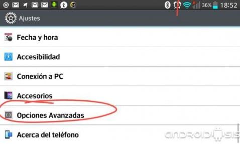 Cómo activar las opciones de desarrollador en Android