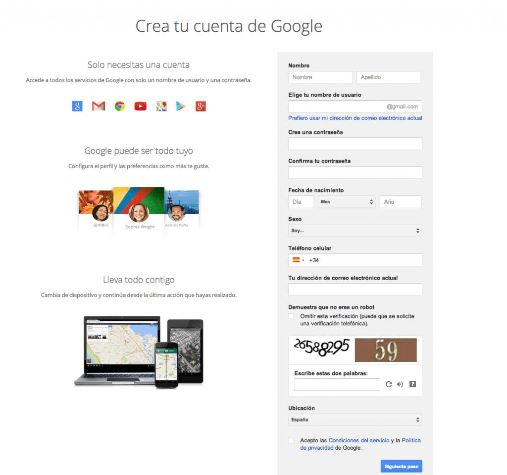 añadir cuenta Google Play