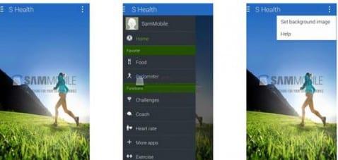 Exclusivas imágenes de la posible actualización de S-Health de Samsung