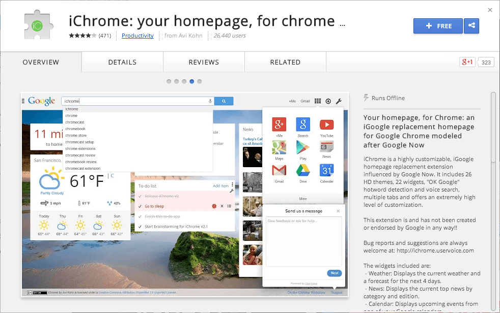 iChrome New Tab Page